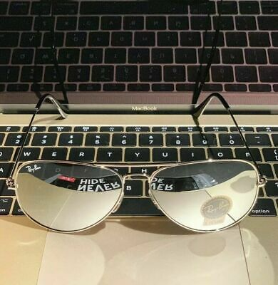 Ray Ban Aviator 3025 W3277 Size 55 58 62 Mirror Silver Lens / Silver Frame NEW