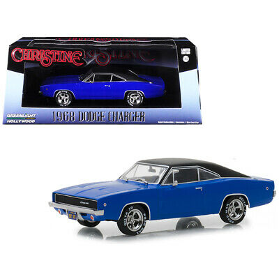 """1968 DODGE CHARGER BLUE /""""CHRISTINE/"""" 1//64 DIECAST MODEL CAR BY GREENLIGHT 44820 E"""
