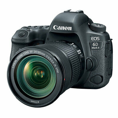 Canon EOS 6D Mark II Digital SLR Camera with 24-105mm f/3.5-5.6 IS STM Lens