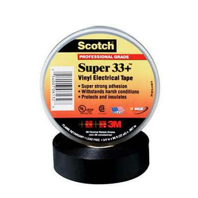 Scotch Super 33 Plus Vinyl Plastic Electrical Tape Black - 3M - 6130