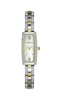 Bulova Women's Quartz Swarovski Crystal Mother of Pearl Dial 15mm Watch 98L214