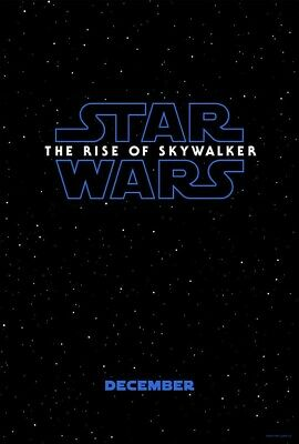 Star Wars THE RISE OF SKYWALKER - Original Double Sided 27x40 Teaser Poster