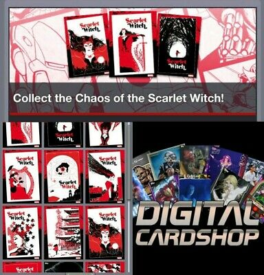 Topps Marvel Collect Card Trader Scarlet Witch Set of 9 with Awards