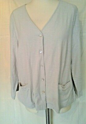 Adini 100/% Cotton slub jersey short sleeved cardigan tie front XS