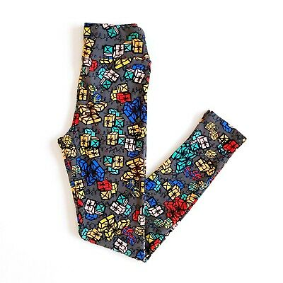 LuLaRoe Women's Tween 0 00 Present Holiday Christmas Leggings Pants NWOT