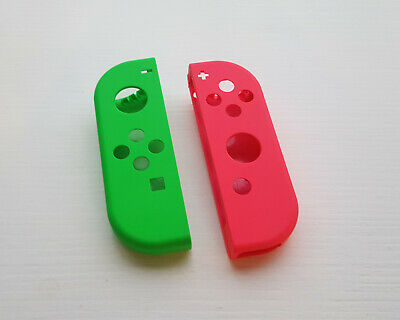 Nintendo Switch Joy Con Replacement Housing Plastic Shell - Green and Pink