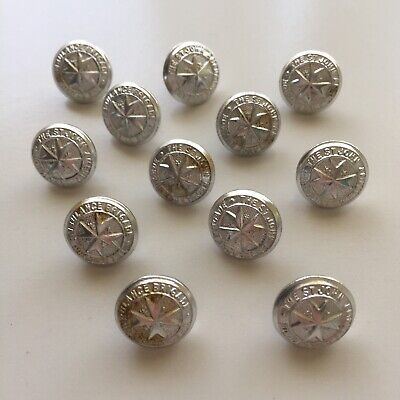 12x The St John's Ambulance Service 16mm Uniform Buttons Made by Stokes Vic