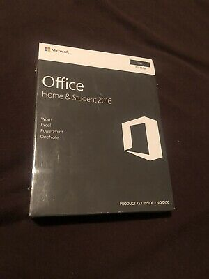 Microsoft office 2016 Home and Student For Mac / New and Still Sealed.