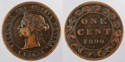 CANADA: 1890-H Cent Repunched 'I' in 'DEI' #WC78706