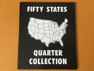 Fifty 50 US State Quater Collection Set Complete With Commemorative Folder