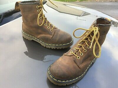 Dr Martens 1460 brown crazy horse leather boots UK 7 EU 41 Made in England