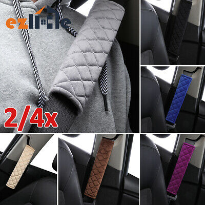 1 pair au Strap Shoulder Safety Seat belt cover Pads Pack Pad Car and Pram