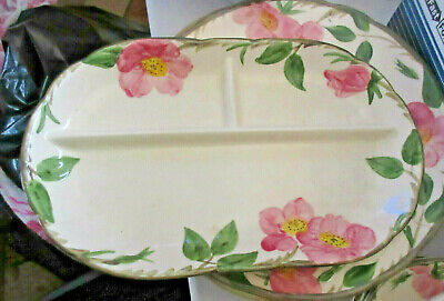12'  3 section serving piece Desert Rose Pattern, Franciscan Ware China,