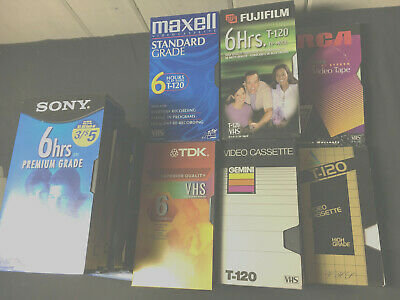 25 LOT USED BLANK VHS VIDEO TAPES Old Television, Shows Cartoons family Oriented