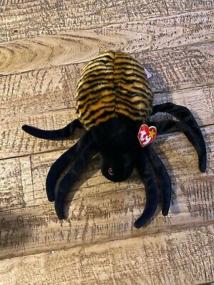 - MWMTs Stuffed Animal Toy TY Beanie Buddy SPINNER the Spider 11.5 inch