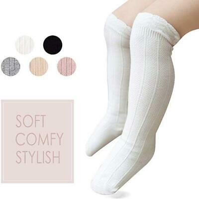 5 Pairs Unisex Girls Boys Baby Lace Stocking Toddler Knit Knee High Cotton Socks