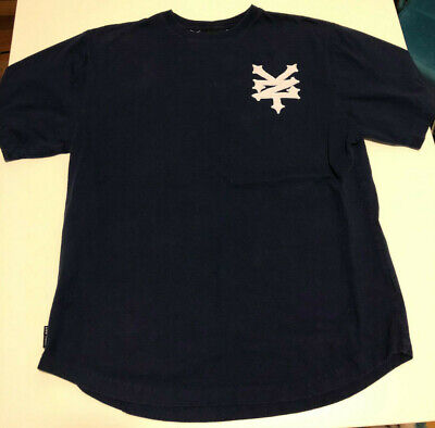 Zoo York Men's Stitched On Logo and Letters Blue T-Shirt  -- Size: XL