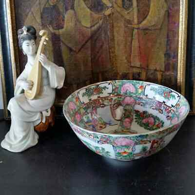 Vintage Imperial Painted Chinese Famille Rose Medallion Bowl
