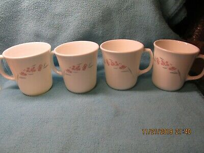 4 Corelle SILK BLOSSOMS Mugs FREE SHIP US
