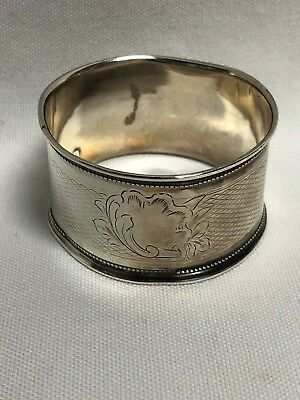 Antique 19th Century A Vaguer 950 French Sterling Silver Napkin Ring No Mono