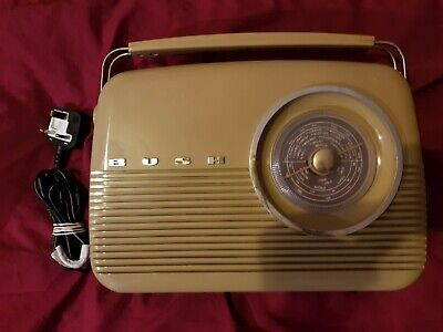 Vintage Bush Radio, Full Working With Power Lead. Great Retro Radio.