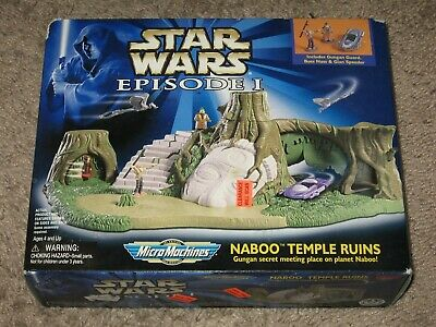 Star Wars Micro Machines NABOO TEMPLE RUINS Ep. 1 Playset 1998 Galoob Sealed