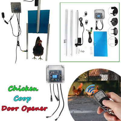 Chicken House Coop Henhouse Automatic Door Opener Closer Kit with Light Sensor