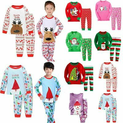 Children Kids Boys Girls Christmas Xmas Pyjamas Pajamas Pj's Sleepwear Suit