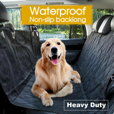 Waterproof Dog Car Seat Cover Hammock for Pet SUV Van Back Rear Bench Pad Mat 9F