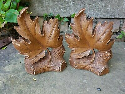 Bookends,  maple leaf design, by Durwood Co