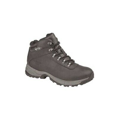 Hi-Tec EUROTREK LITE Mens Coated Leather Casual Dress Hiking Boots Dark Brown