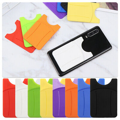 Adhesive Silicone Soft Wallet Case Phone Card Holder Case Pouch Card Pocket
