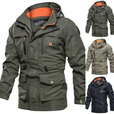 Mens Waterproof Winter Jackets Outdoor Breathable Tactical Coat Military Jacket