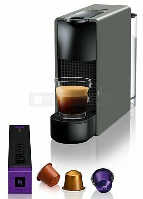 Nespresso Essenza Mini Coffee Machine - Grey + 14 Capsules - NEW