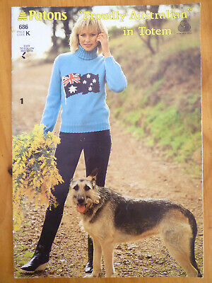 """VINTAGE PATONS """"Proudly Australian"""" in Totem Knitting Book No.686"""