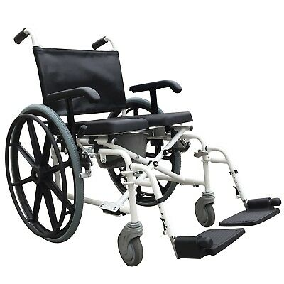Mobile wheeled self propel shower commode chair wheelchair with brakes ECSCOMSP