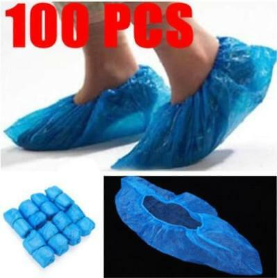100PCS//Pack Waterproof Disposable Shoe Covers  Plastic Protective Overshoes I8R5