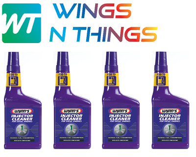 4x WYNNS Injector Cleaner For Diesel Engine 325ml Performance Fuel Economy 51668