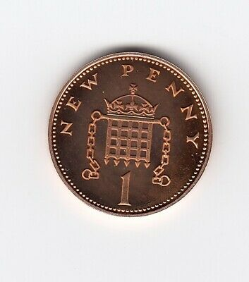 1980 ONE PENNY 1p PROOF Mirror Matt Finish an Extremely Nice 1p piece  (1522)