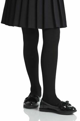 Girls School TIGHTS 3-13 years White Black Grey Navy Children's School Tights