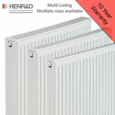 Henrad Compact Radiator Type 11, 21 & 22 Central Heating System - Mulitple Sizes