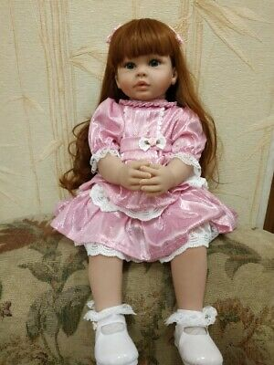 """Lovely Reborn Baby Girl Dolls Toddler Realistic Look Silicone Baby Doll Toys 24"""""""