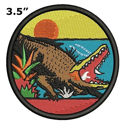 Alligator Everglades Patch Embroidered Iron or Sew-On Vacation Souvenir Explore