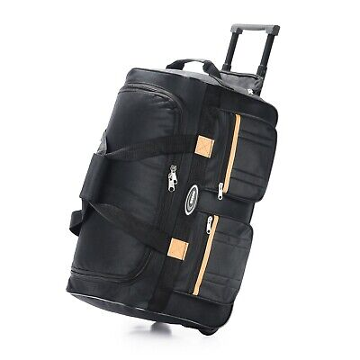 """20"""" Rolling Wheeled Duffle Bag Tote Carry On Travel Suitcase Luggage Lighweight"""