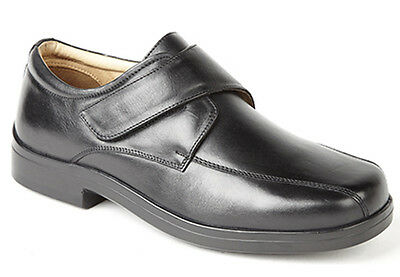 Roamers M9531A XXX Extra Wide 4 Eye Plain Tie Leather Shoes