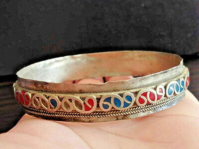Ancient Viking Medieval Silver bracelet artifact stunning Magnifique UNIQUE