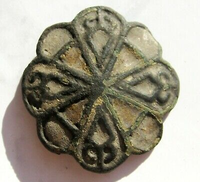 Ancient Vikings bronze decoration with enamels 10-12 centuries