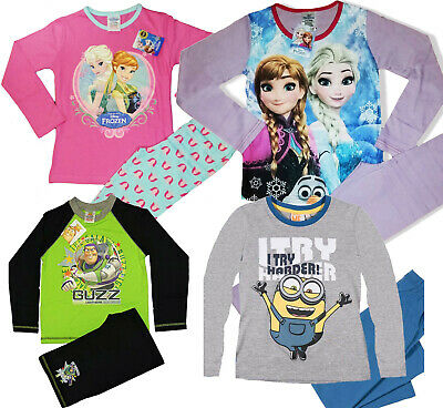 CLEARANCE Kids Pyjamas Frozen Minions Buzz Lightyear Star Wars Girls Boys Pjs