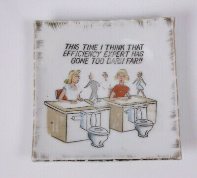 Expert Has Gone to Far Toilet Potty Novelty Vtg Secretary Office Humor Ashtray