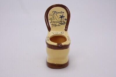 Herzfeld's St. Pete Beach Florida Toilet Potty Rest Your Ash Ashtray Souvenir